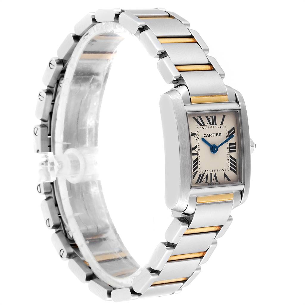 24463 Cartier Tank Francaise 20mm Steel Yellow Gold Ladies Watch W51007Q4 SwissWatchExpo