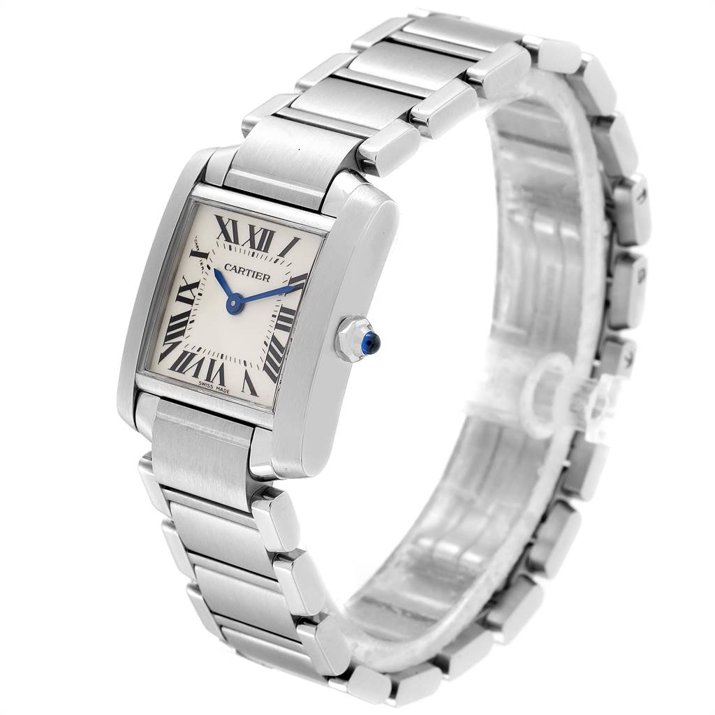 Cartier Tank Francaise Small Steel Ladies Watch W51008Q3 Box Papers SwissWatchExpo