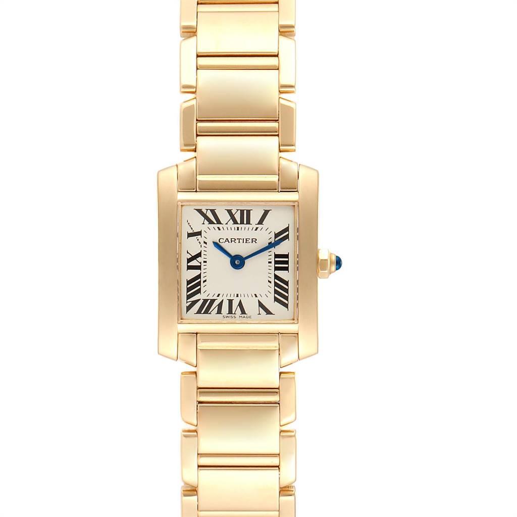 24955 Cartier Tank Francaise Yellow Gold Quartz Ladies Watch W50002N2 SwissWatchExpo