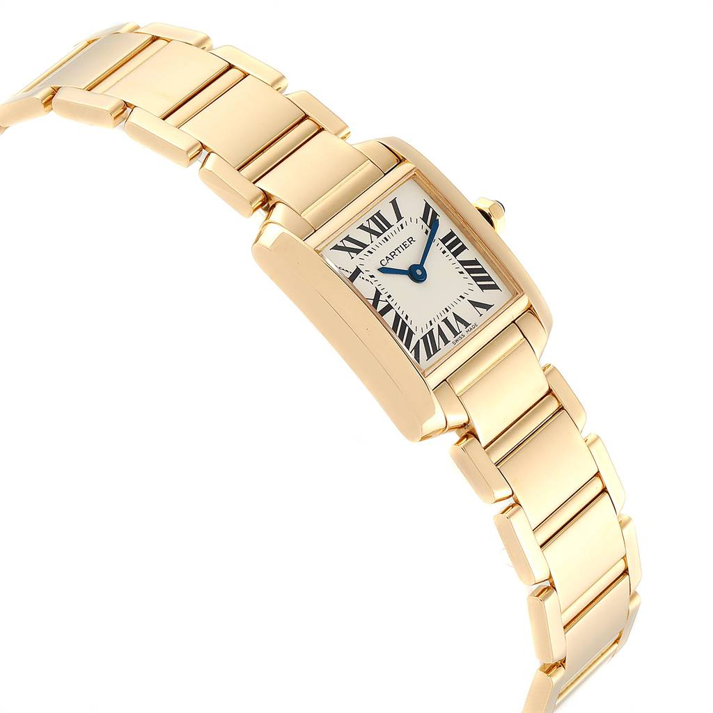 Cartier Tank Francaise Yellow Gold Quartz Ladies Watch W50002N2 SwissWatchExpo