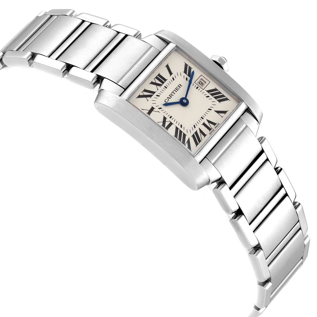 Cartier Tank Francaise Midsize Steel Ladies Watch W51011Q3 Box Papers SwissWatchExpo