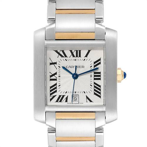 Photo of Cartier Tank Francaise Steel Yellow Gold Mens Watch W51005Q4 Box