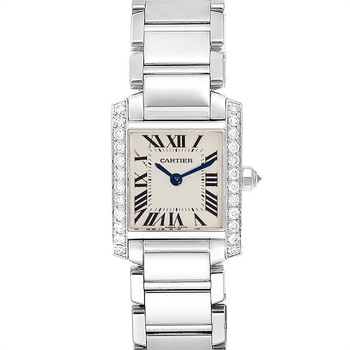 Photo of Cartier Tank Francaise 18K White Gold Diamond Ladies Watch WE1002S3