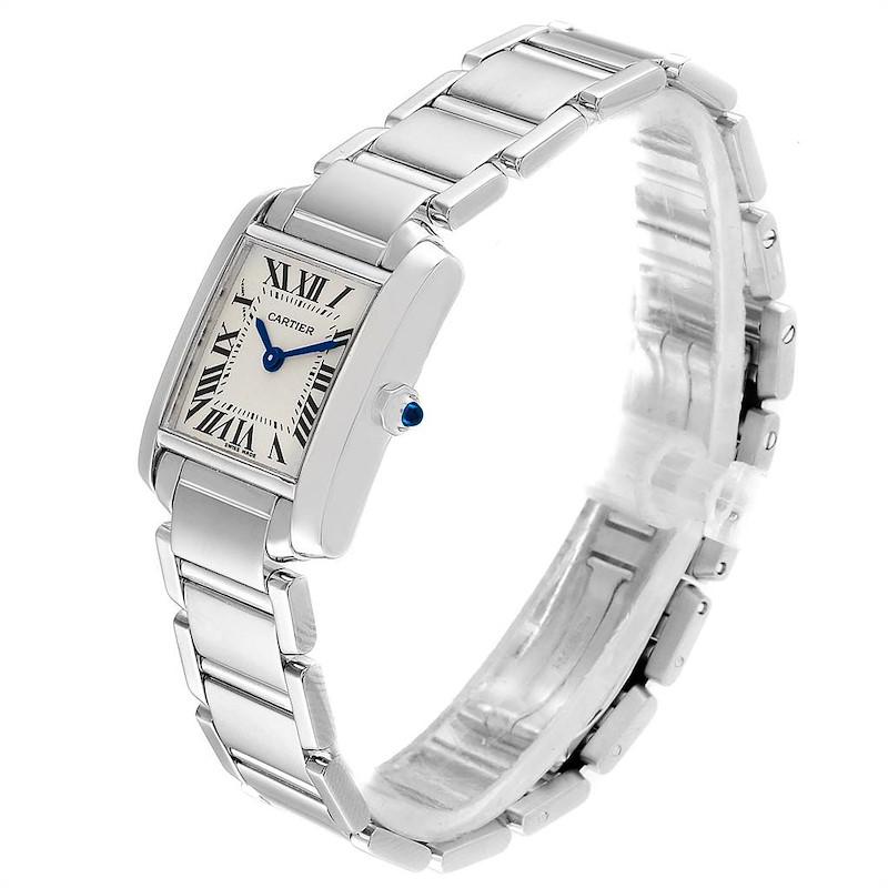 Cartier Tank Francaise White Gold Quartz Ladies Watch W50012S3 SwissWatchExpo