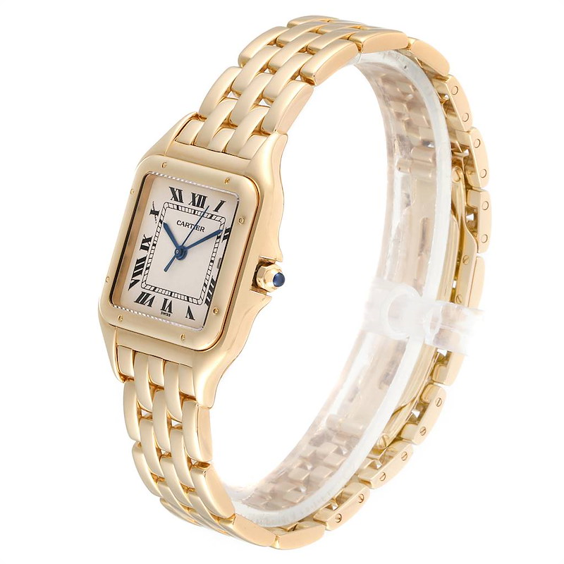 Cartier Panthere XL Blue Sapphire Yellow Gold Unisex Watch W25014B9 SwissWatchExpo