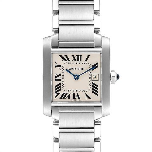 Photo of Cartier Tank Francaise Midsize 25mm Steel Ladies Watch W51011Q3