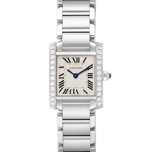 Photo of Cartier Tank Francaise Small Steel Diamond Ladies Watch W4TA0008