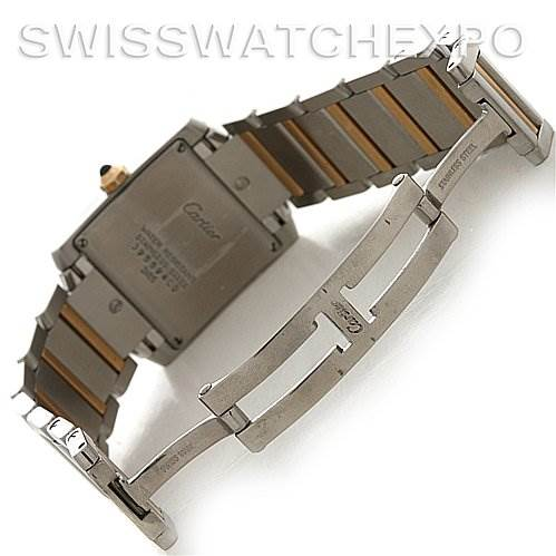 2679 CARTIER  TANK FRANCAISE MIDSIZE SS/18K Y GOLD W51012Q4 SwissWatchExpo