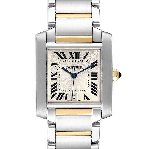 Photo of Cartier Tank Francaise Steel Yellow Gold Automatic Mens Watch W51005Q4