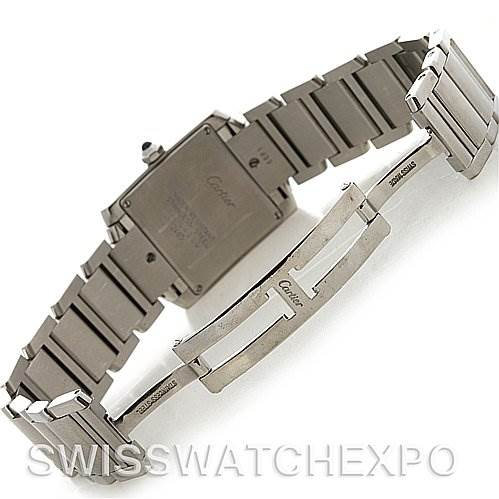 2728 Cartier Ladies SS Cartier Tank Francaise Midsize W51011Q3 SwissWatchExpo