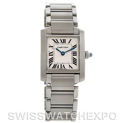 2092 Cartier Tank Francaise Ladies Small SS Watch W51008Q3 SwissWatchExpo
