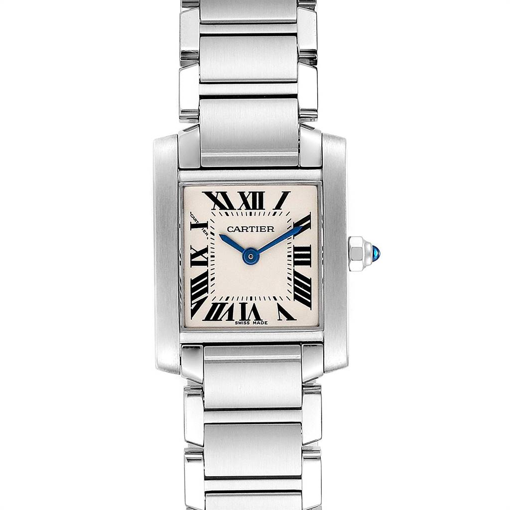 Cartier Tank Francaise Silver Dial Roman Numerals Ladies Watch W51008Q3 SwissWatchExpo