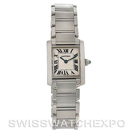 2783 Cartier Tank Francaise Ladies Small SS Watch W51008Q3 SwissWatchExpo