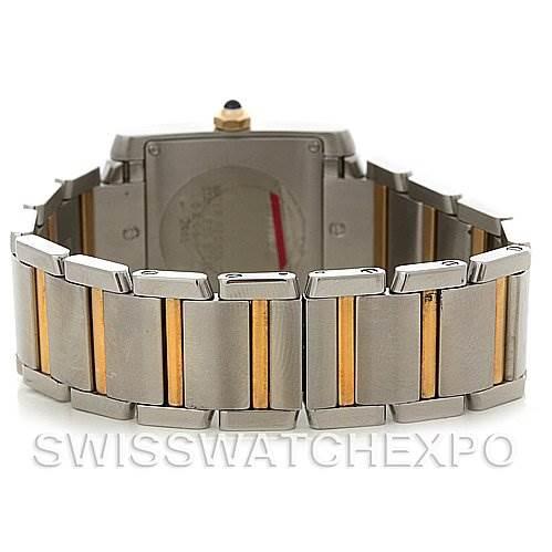 2828 Cartier Tank Francaise Midsize SS/18K Y Gold W51012Q4 SwissWatchExpo