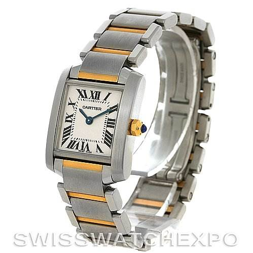 2823 Cartier Tank Francaise Small SS and 18K Y Gold W51007Q4 SwissWatchExpo