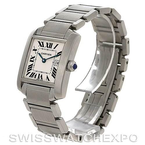 2826 Cartier Ladies Tank Francaise Steel Midsize W51011Q3 Watch SwissWatchExpo