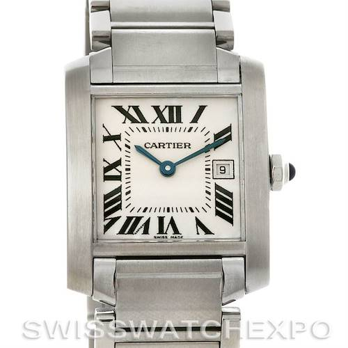 Photo of Cartier Ladies Tank Francaise Steel Midsize W51011Q3 Watch