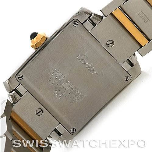 2803 Cartier Tank Francaise Midsize Steel 18K Yellow Gold Watch W51012Q4 SwissWatchExpo
