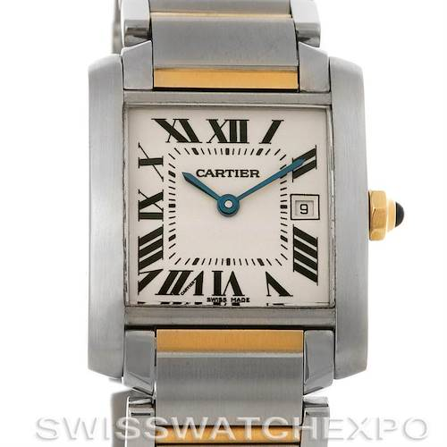 Photo of Cartier Tank Francaise Midsize Steel 18K Yellow Gold Watch W51012Q4