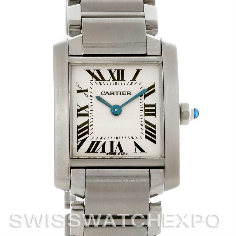 2857 Cartier Tank Francaise Ladies Small SS Watch W51008Q3 SwissWatchExpo