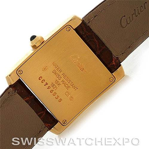 2870 Cartier  Tank Francaise Midsize 18K Yellow Gold Watch W50003N2 SwissWatchExpo