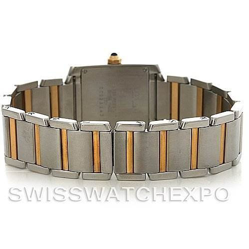 2932 Cartier Tank Francaise Midsize Steel 18k Yellow Gold W51007Q4 Watch SwissWatchExpo
