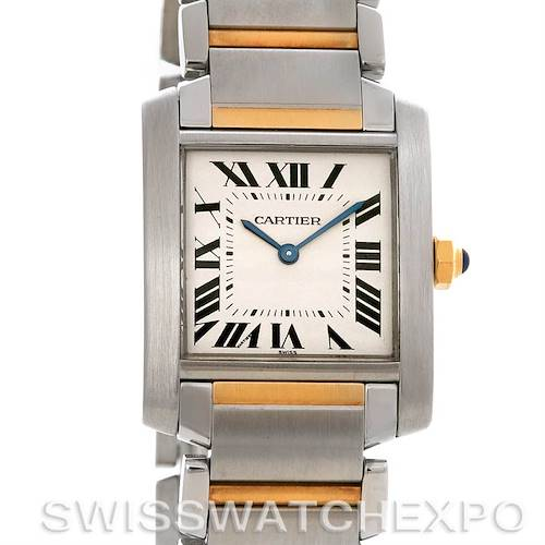 Photo of Cartier Tank Francaise Midsize Steel 18k Yellow Gold W51007Q4 Watch