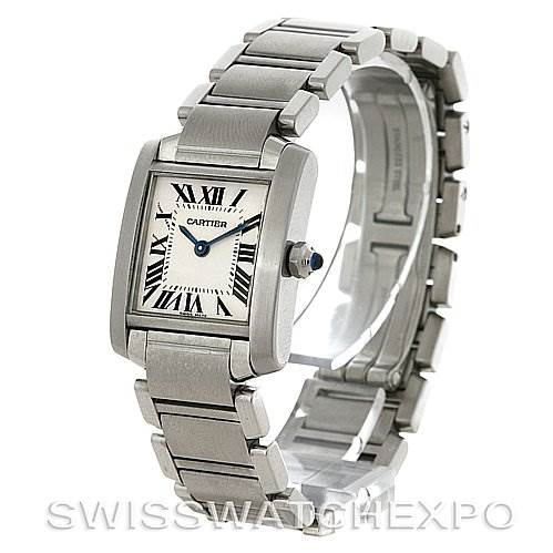 3061 Cartier Tank Francaise Ladies Steel Watch W51008Q3 SwissWatchExpo