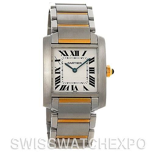 3041 Cartier Tank Francaise Midsize Steel and 18k Yellow Gold SwissWatchExpo
