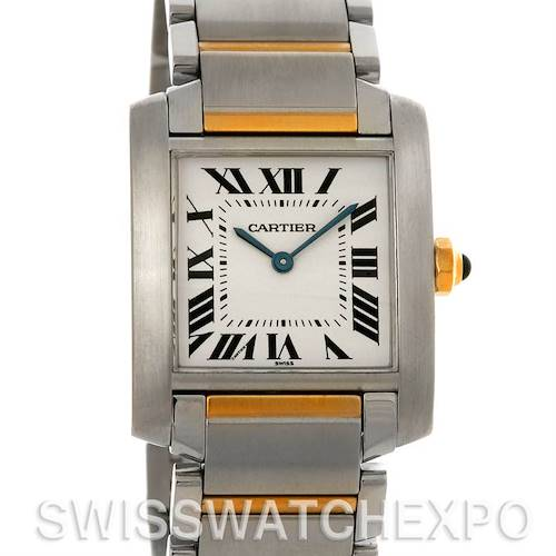 Photo of Cartier Tank Francaise Midsize Steel and 18k Yellow Gold