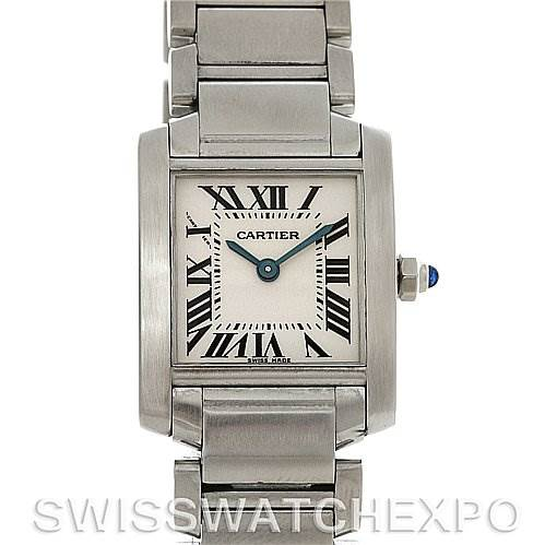 4132 Cartier Tank Francaise Ladies Stainless Steel Watch W51008Q3 SwissWatchExpo