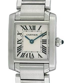 828WC Cartier Ladies Ss Small Tank Francaise Model W51008q3 SwissWatchExpo