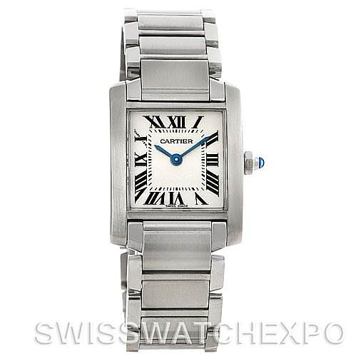 4223 Cartier Tank Francaise Ladies Stainless Steel Watch W51008Q3 SwissWatchExpo