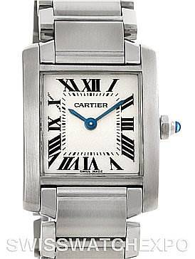 Photo of Cartier Tank Francaise Ladies Stainless Steel Watch W51008Q3