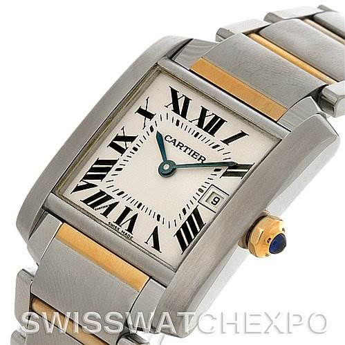4494 Cartier Tank Francaise Midsize Steel 18k Yellow Gold W51012Q4 Watch SwissWatchExpo