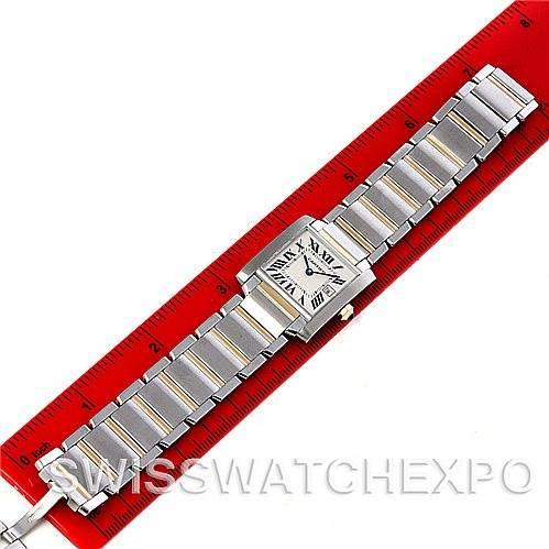 4494 Cartier Tank Francaise Midsize Steel 18k Yellow Gold W51012Q4 Watch SwissWatchExpo