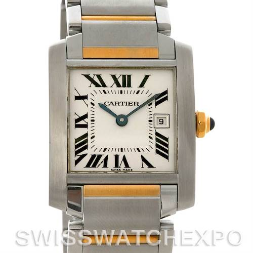 Photo of Cartier Tank Francaise Midsize Steel 18k Yellow Gold W51012Q4 Watch