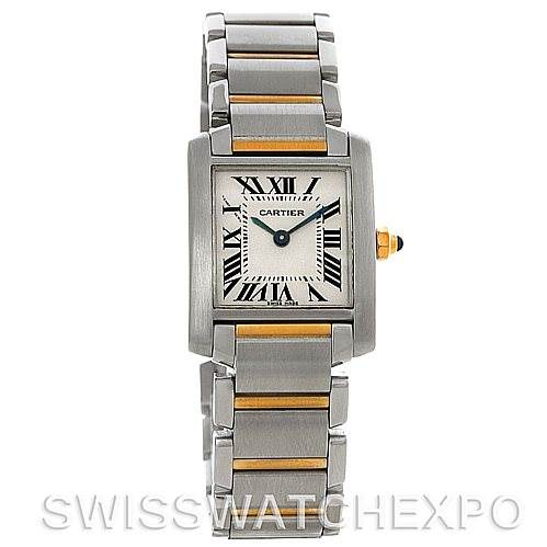 2384 Cartier Tank Francaise Small Steel and 18k Yellow Gold W51007Q4 Watch SwissWatchExpo