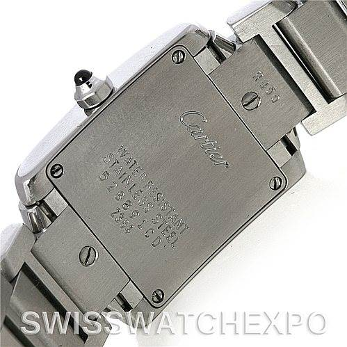 4280 Cartier Tank Francaise Ladies Stainless Steel Watch W51008Q3 SwissWatchExpo
