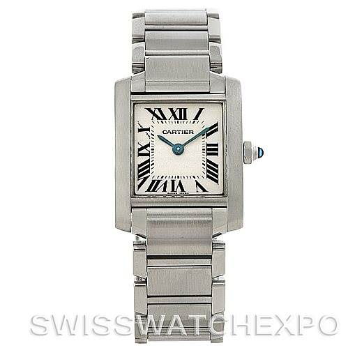 4392 Cartier Tank Francaise Ladies Stainless Steel Watch W51008Q3 SwissWatchExpo