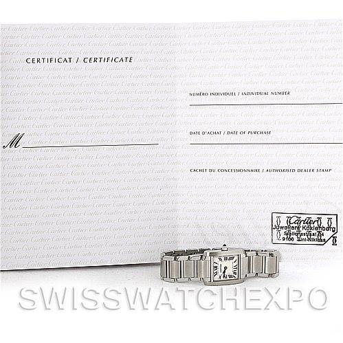4397 Cartier Tank Francaise Ladies Stainless Steel Watch W51008Q3 SwissWatchExpo