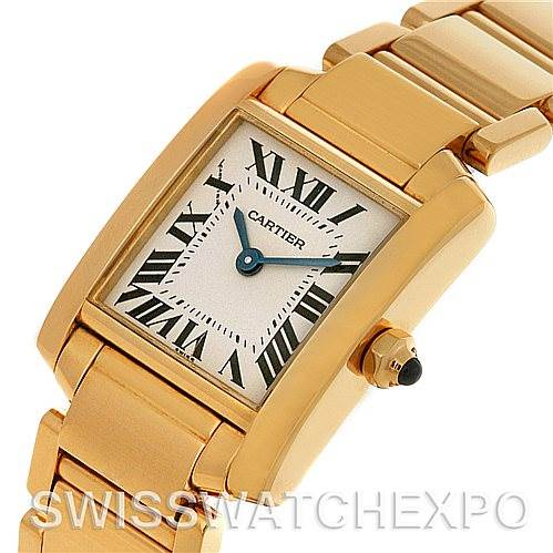 4409 Cartier Tank Francaise Small Ladies 18k Yellow Gold W50002N2 Watch SwissWatchExpo
