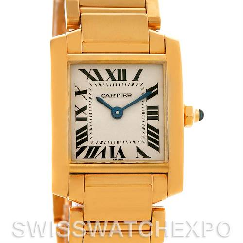 Photo of Cartier Tank Francaise Small Ladies 18k Yellow Gold W50002N2 Watch