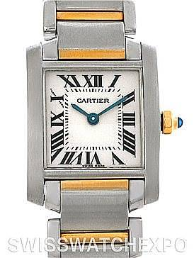 Photo of Cartier Tank Francaise Small Steel 8k Yellow Gold W51007Q4 Watch