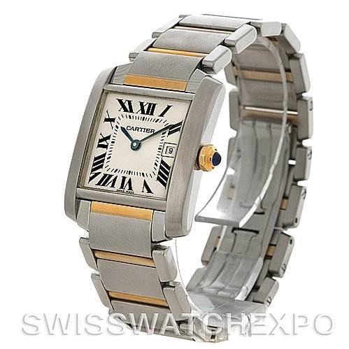 4269 Cartier Tank Francaise Midsize Steel 18k Yellow Gold W51012Q4 Watch SwissWatchExpo
