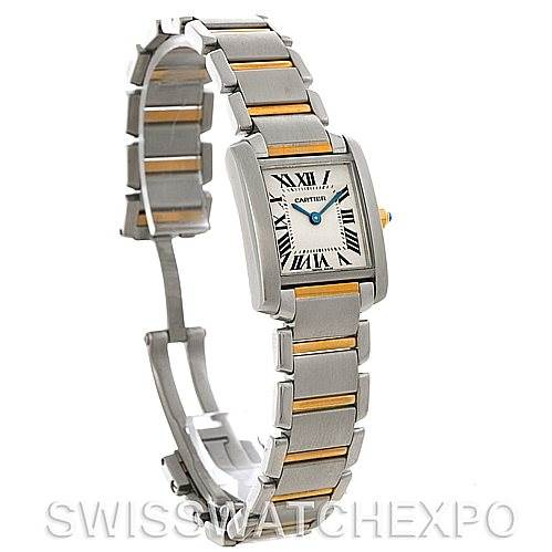 4438 Cartier Tank Francaise Small Steel and 18k Yellow Gold W51007Q4 SwissWatchExpo