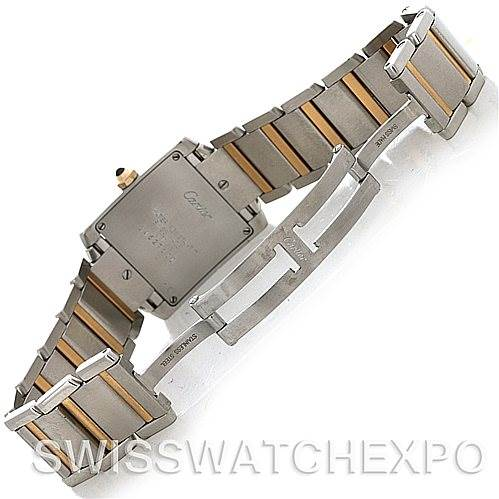 4554 Cartier Tank Francaise Midsize Steel 18k Yellow Gold Watch SwissWatchExpo