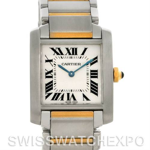 Photo of Cartier Tank Francaise Midsize Steel 18k Yellow Gold Watch