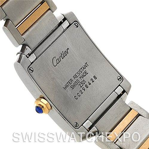 4526 Cartier Tank Francaise Midsize Steel 18k Yellow Gold Watch SwissWatchExpo