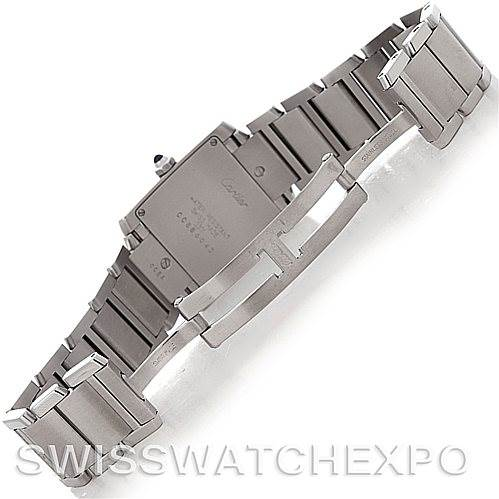 4509  Cartier Tank Francaise Midsize Stainless Steel Watch  SwissWatchExpo